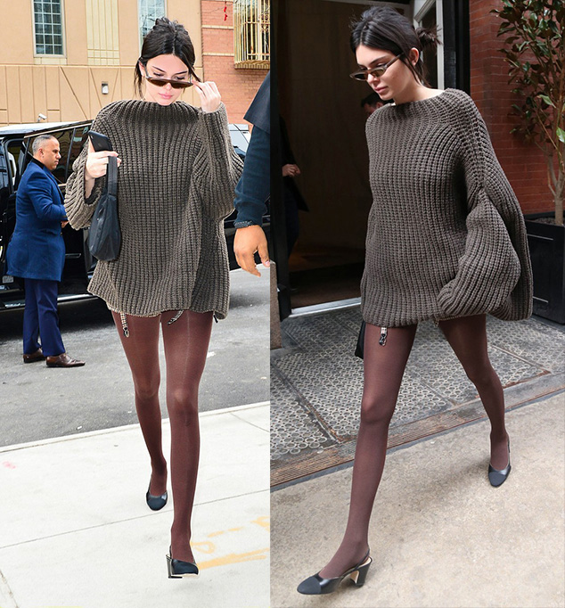Model street styles New York Fashion Week Fall 2018