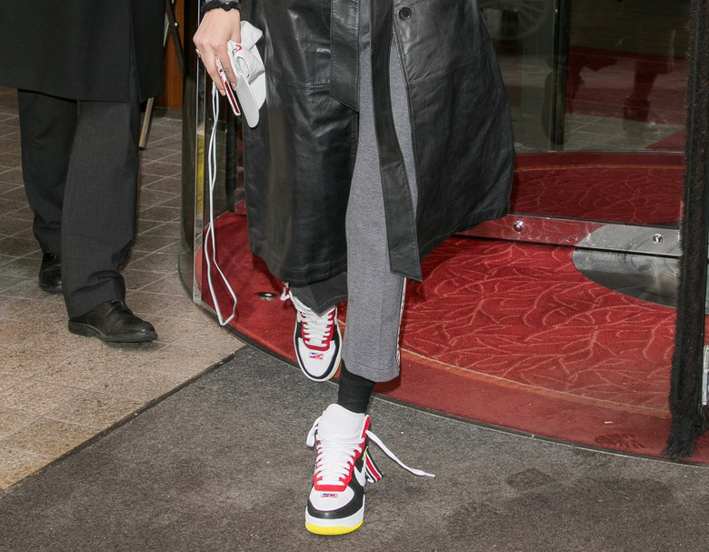 5ee07fefcdd Bella Hadid dad sneaker street style in Paris is another good example