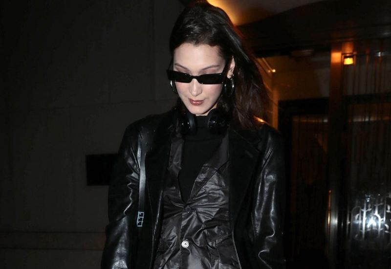 Bella Hadid matrix sneaker style