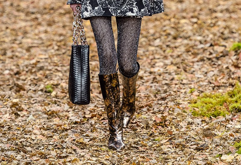 Metallic shoe trend Chanel shoes fall 2018