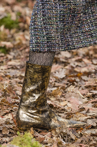 Metallic shoe trend Chanel shoes fall 2018