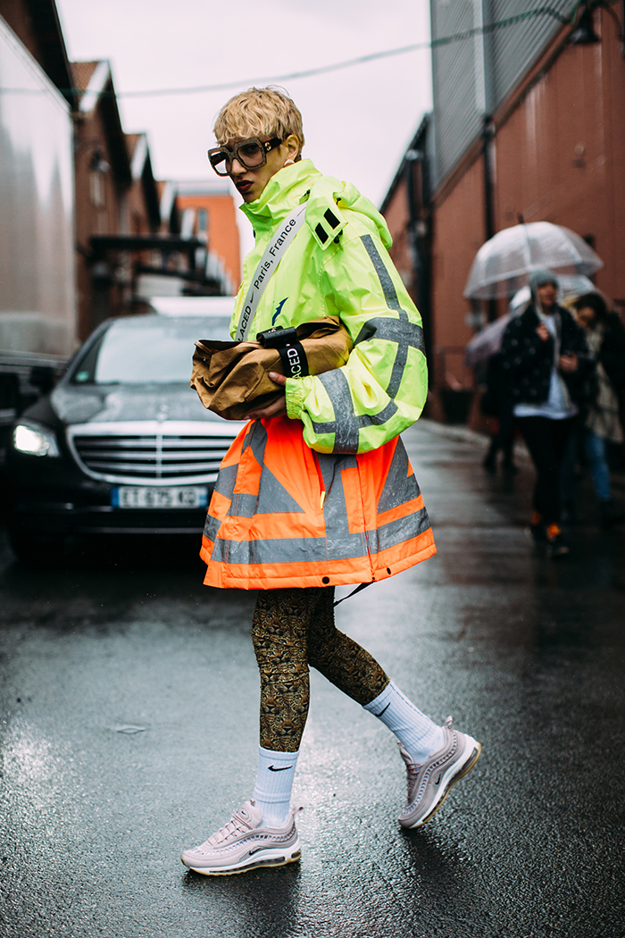 Dad sneaker trend street styles