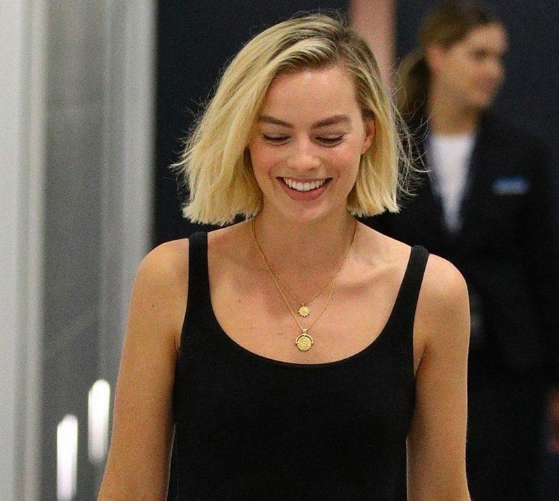 Margot Robbie strap sandal style