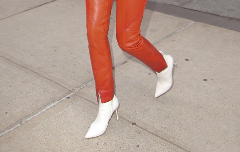Rosie Huntington-Whiteley white shoes style