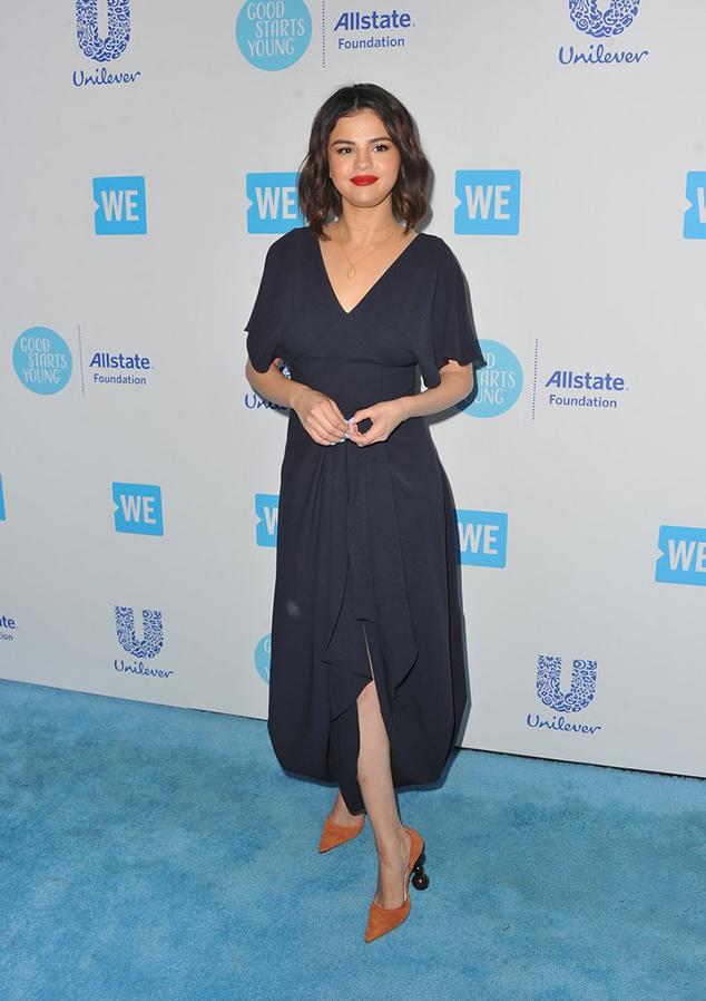 Selena Gomez statement heels style