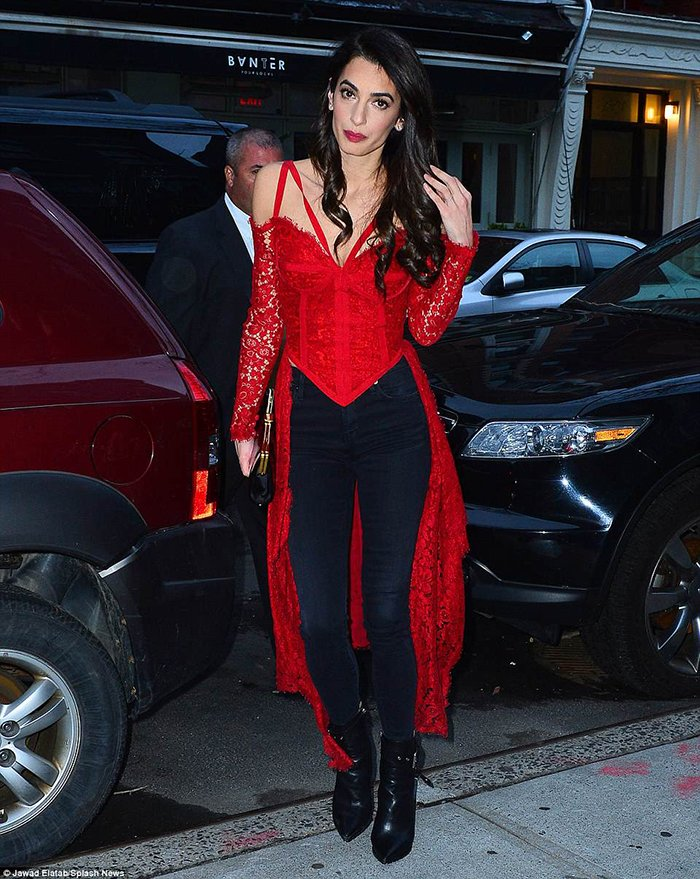 Amal Clooney ankle boots style