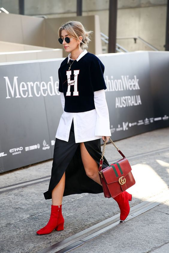 Red shoe trend