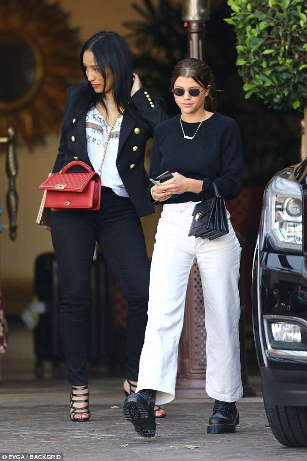 Sofia Richie combat boots spring style