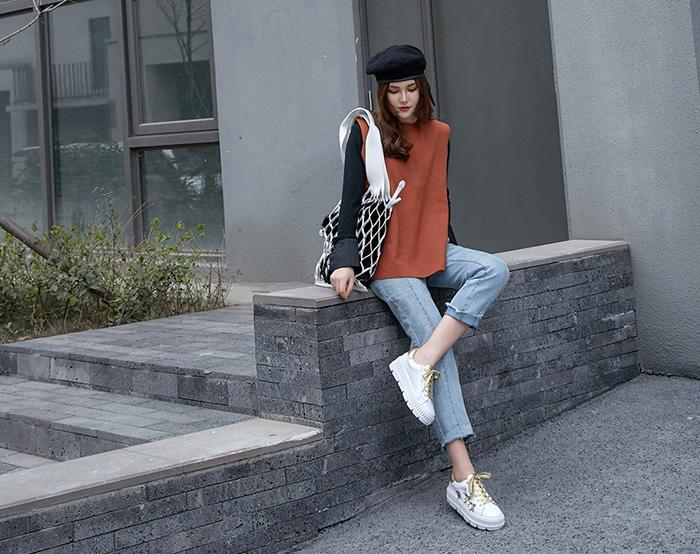 Chiko Jaan Metallic Floral Flatform Sneakers