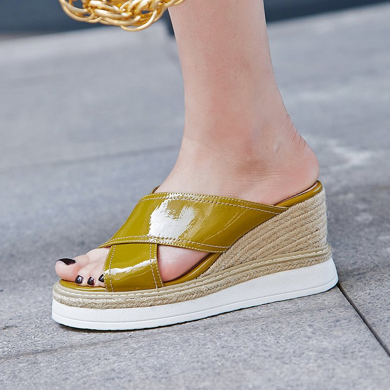 Chiko Nubia Espadrille Platform Wedge Sandal Slides