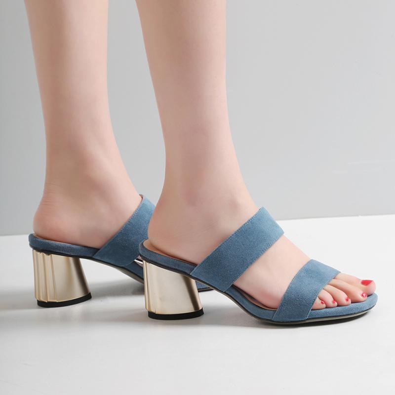Chiko Ptah Metallic Heel Strap Sandal Slides