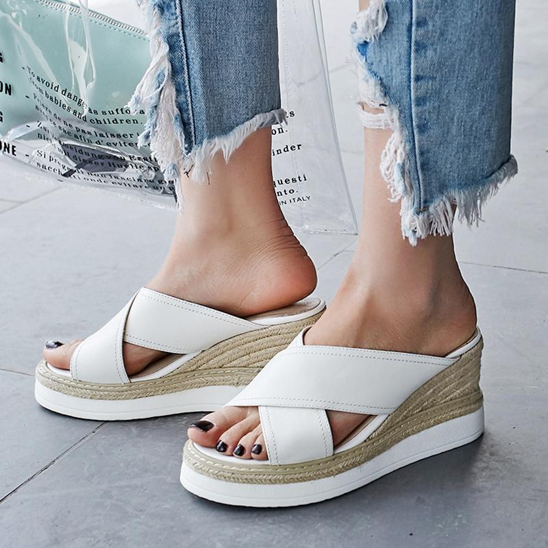 Chiko Shen Espadrille Wedge Sandal Slides