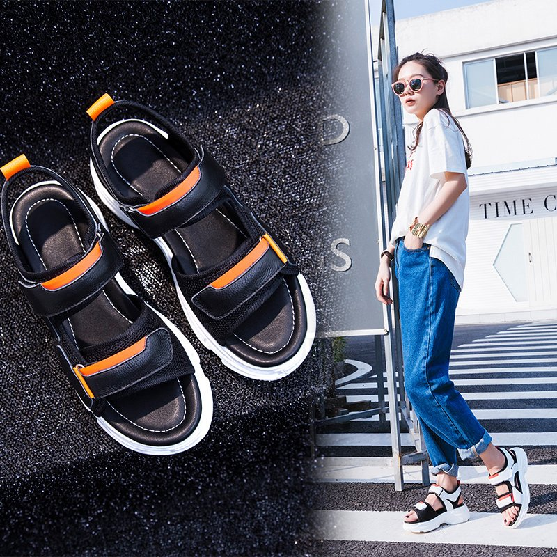672dd16a0f1ac Summer strappy sandals were given a modern update