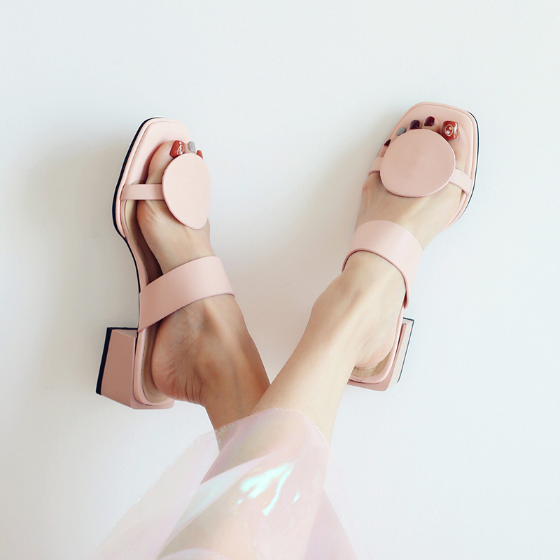 CHIKO ALICE GEOMETRY BLOCK HEEL SANDALS