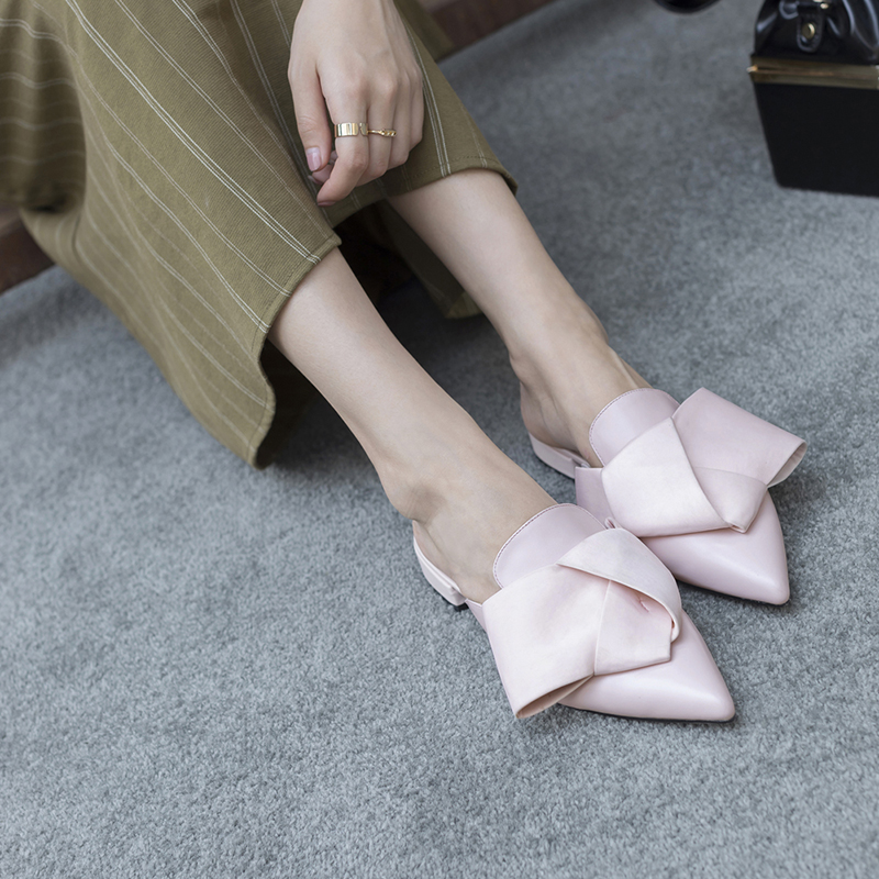 ALINA BOW LOAFER MULES