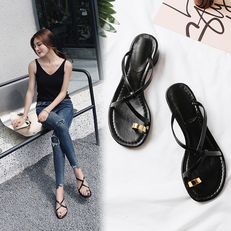 ALLISHA TOE RING SANDAL SLIDES
