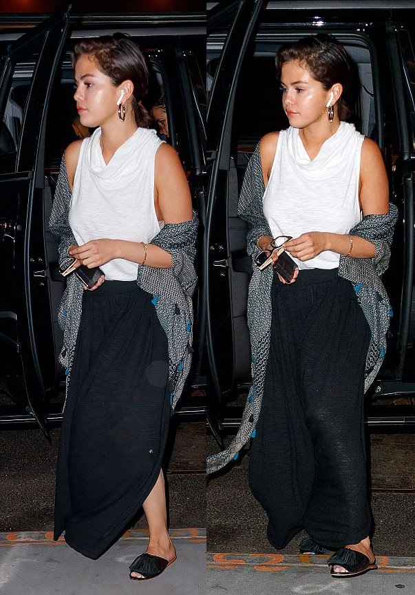 Selena Gomez shoe style transformation from day to night