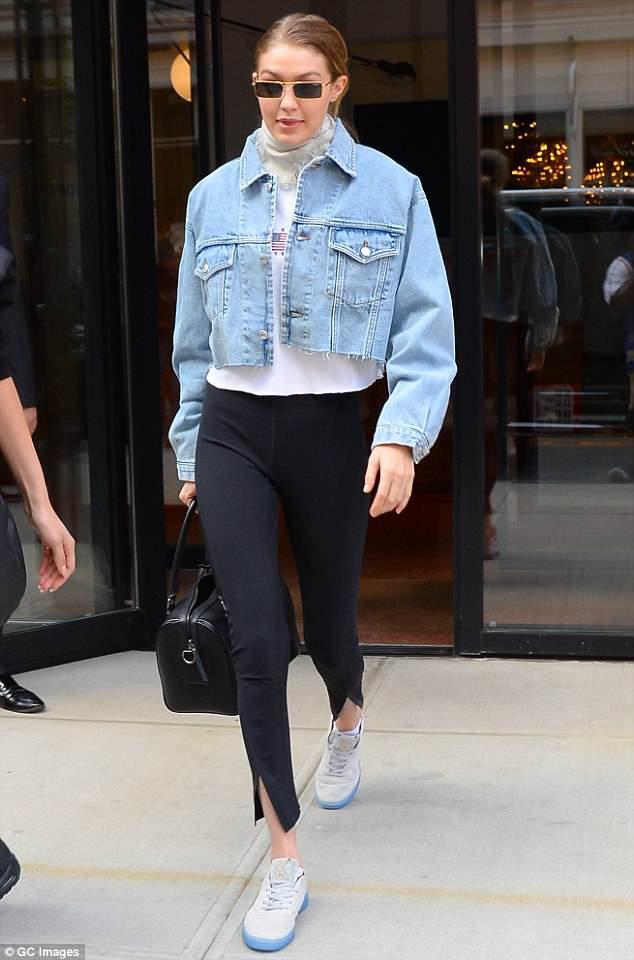 Gigi Hadid dad sneaker style