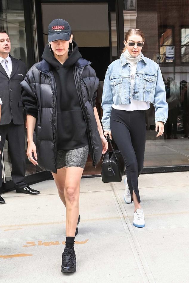 Bella Hadid Gigi Hadid dad sneaker style
