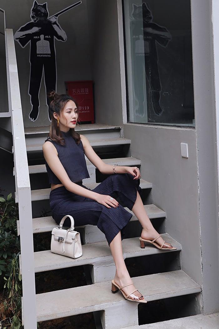 Chiko Cointa Clear PVC Chunky Heel Sandals