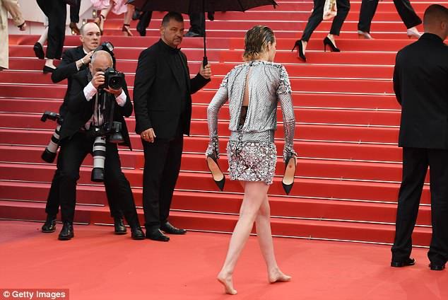 Kristen Stewart Cannes high heels red carpet style