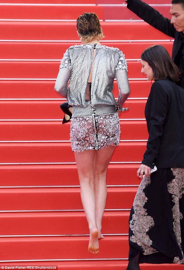 Kristen Stewart Cannes high heels red carpet style