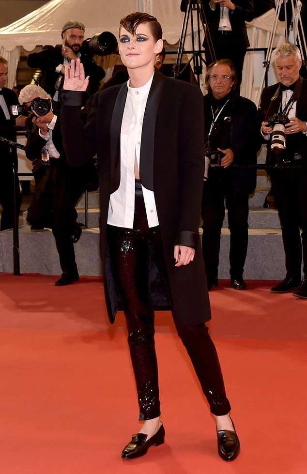 Kristen Stewart loafer shoes red carpet style
