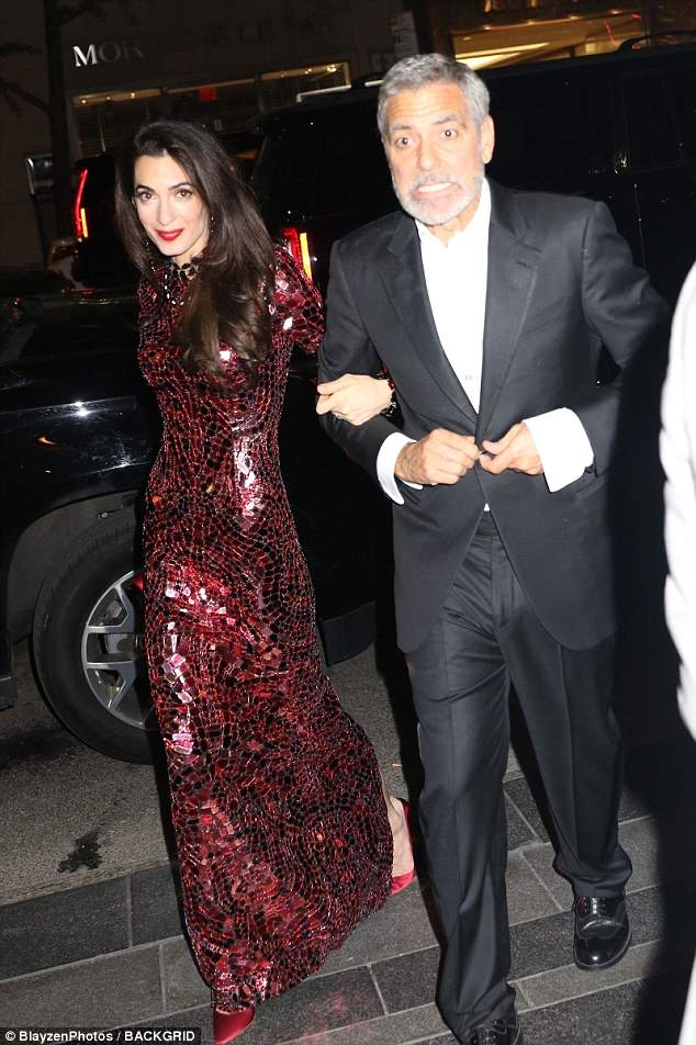 Amal Clonney Met Gala after party shoe style