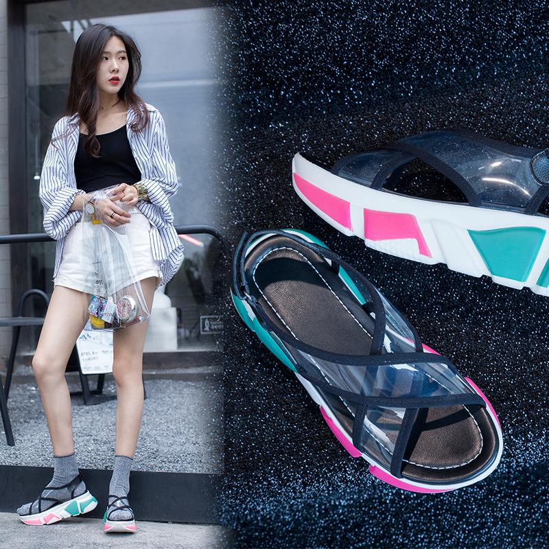 Analisa PVC Flatform Sneaker Sandals