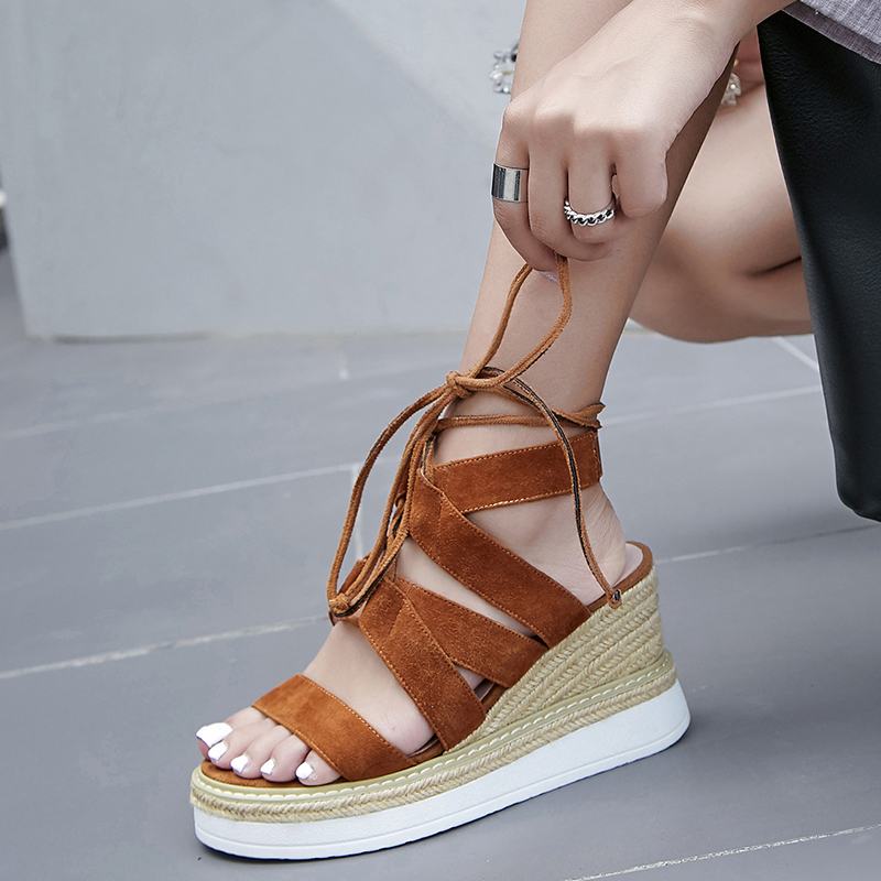 CHIKO ANAMARIA LACE UP ESPADRILLE WEDGE SANDALS
