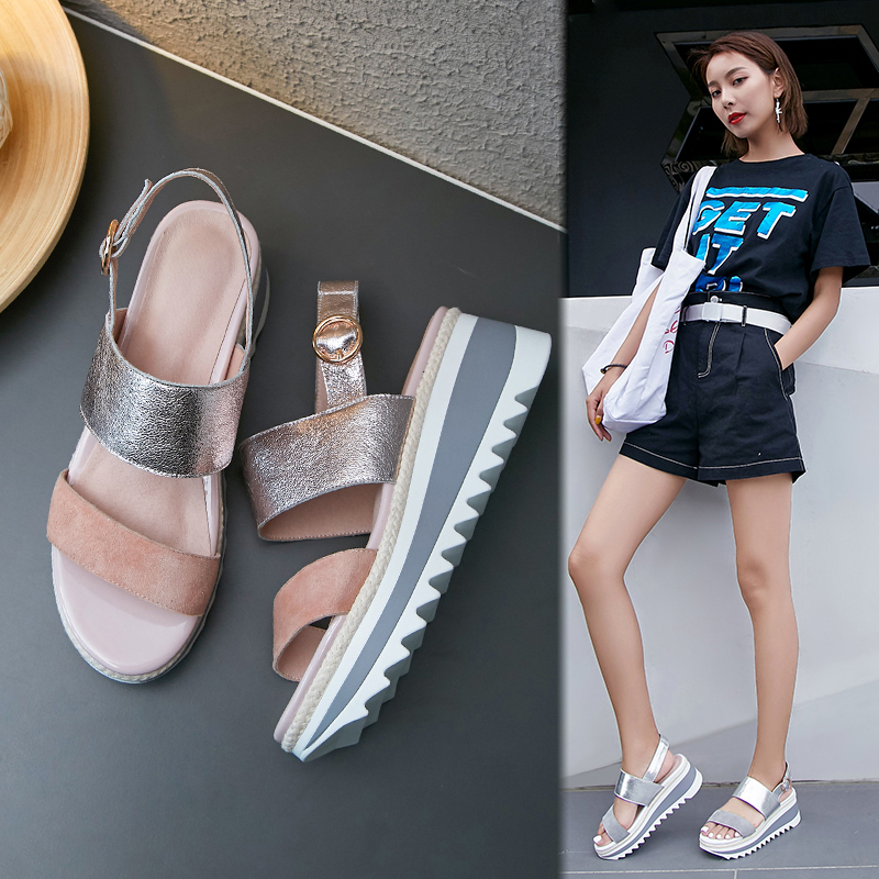 CHIKO ANNISHA METALLIC FLATFORM SANDALS