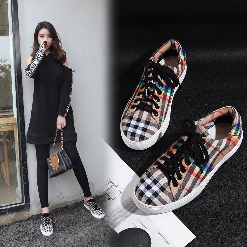 ANNY PLAID FASHION SNEAKERS
