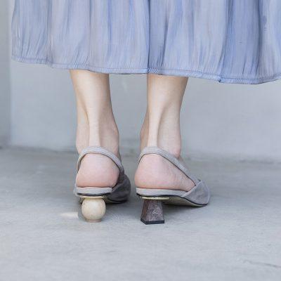 Chiko Art Mismatched Heels Slingback Pumps
