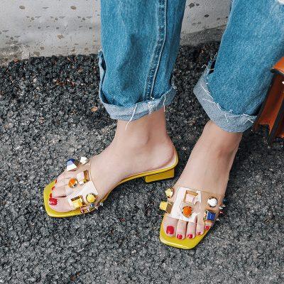 Chiko Ashlan PVC Studded Sandal Slides