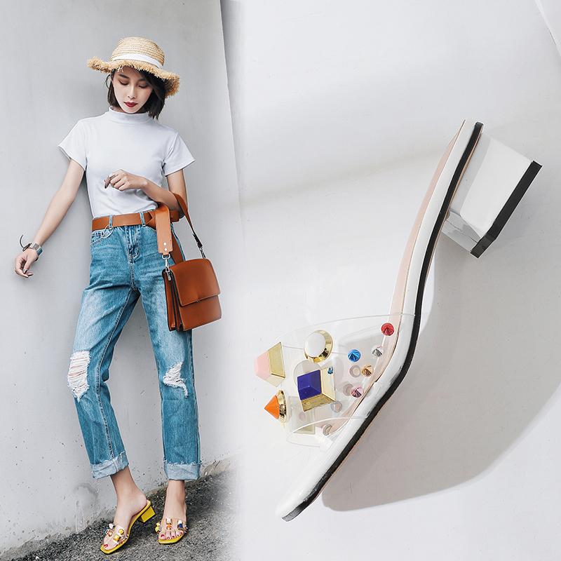 Ashlan PVC Studded Sandal Slides