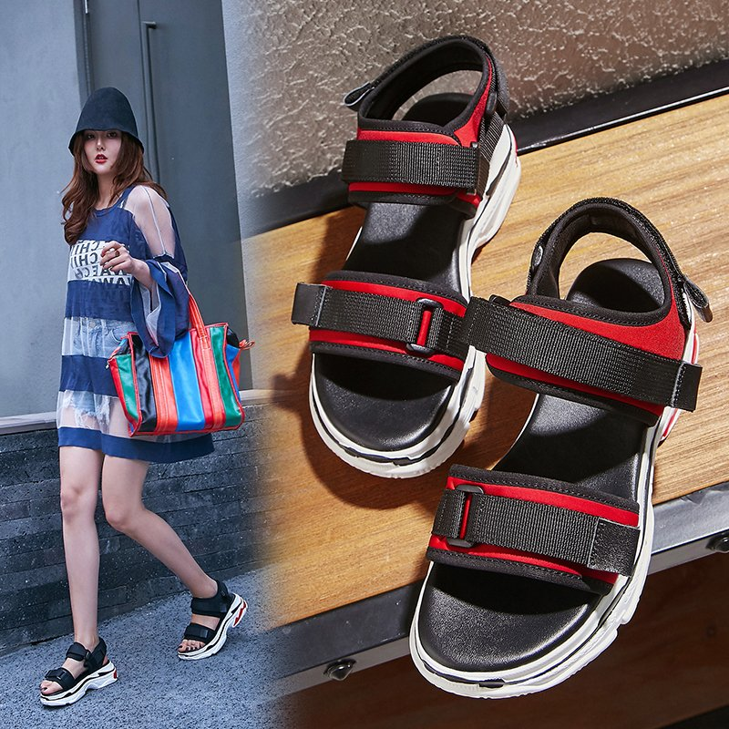 ASHLY FLATFORM SNEAKER SANDALS