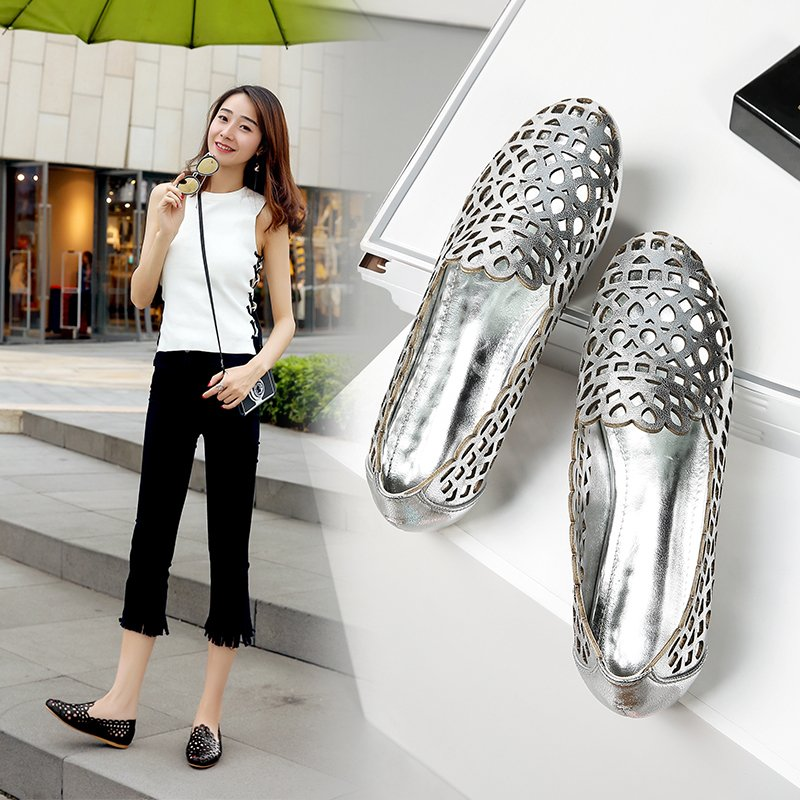 ASHLYN METALLIC LOAFER FLATS