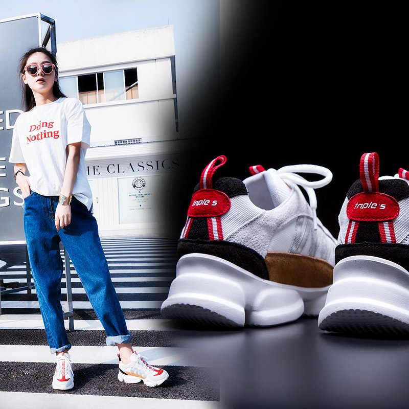 AUDE FLATFORM DAD SNEAKERS