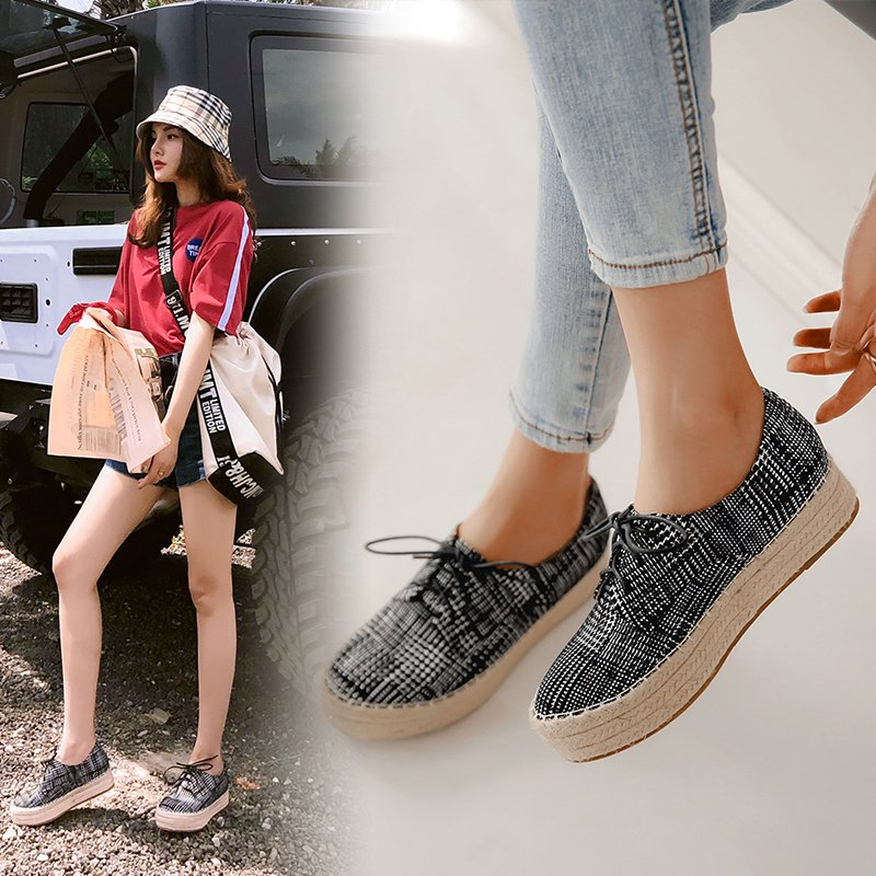 BAIL PLAID ESPADRILLE FLATFORM OXFORDS