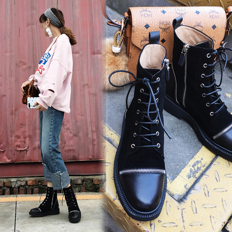 Chiko BAILLIE ZIPPER COMBAT ANKLE BOOTS