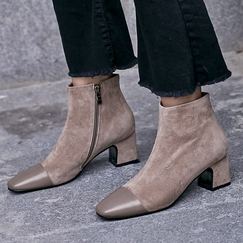 CHIKO BARRON CAP TOE ANKLE BOOTS