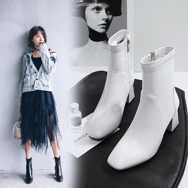 Chiko Bertram Block Heel Sock Boots