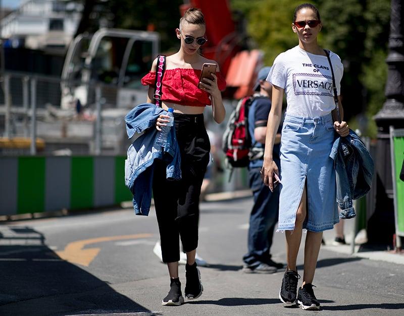 Sneaker styles Paris fashion week