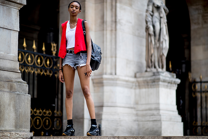 Sneaker styles Paris fashion week
