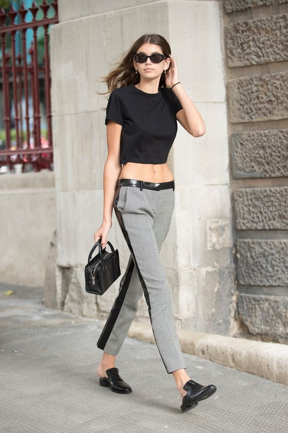 Kaia Gerber loafer mules summer style