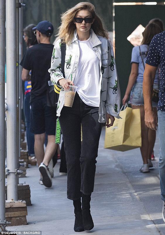Gigi Hadid sock ankle boots summer style