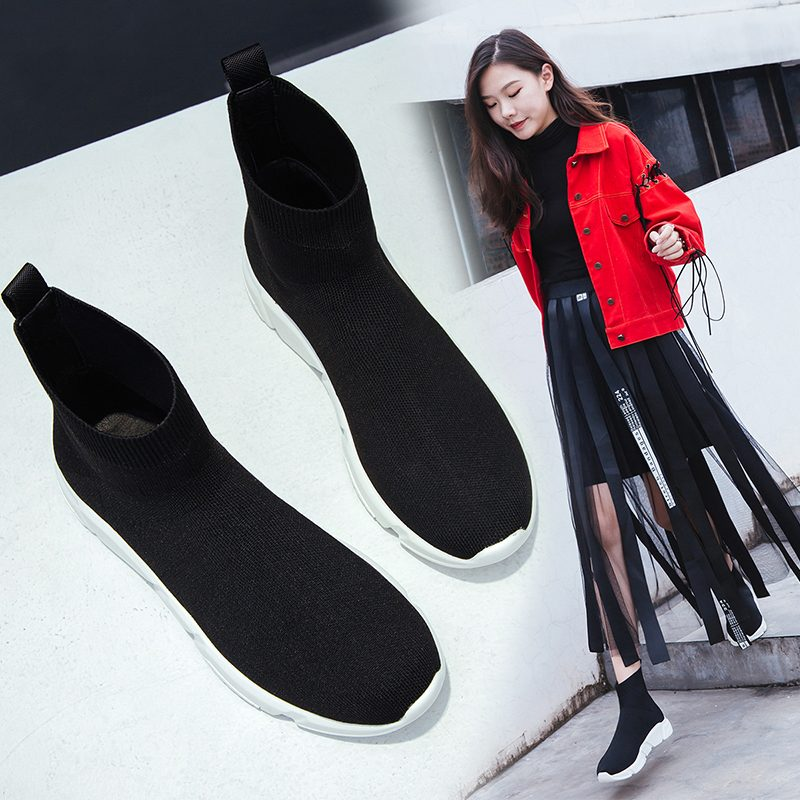 Chiko Birch Pull On Sock Sneaker Boots