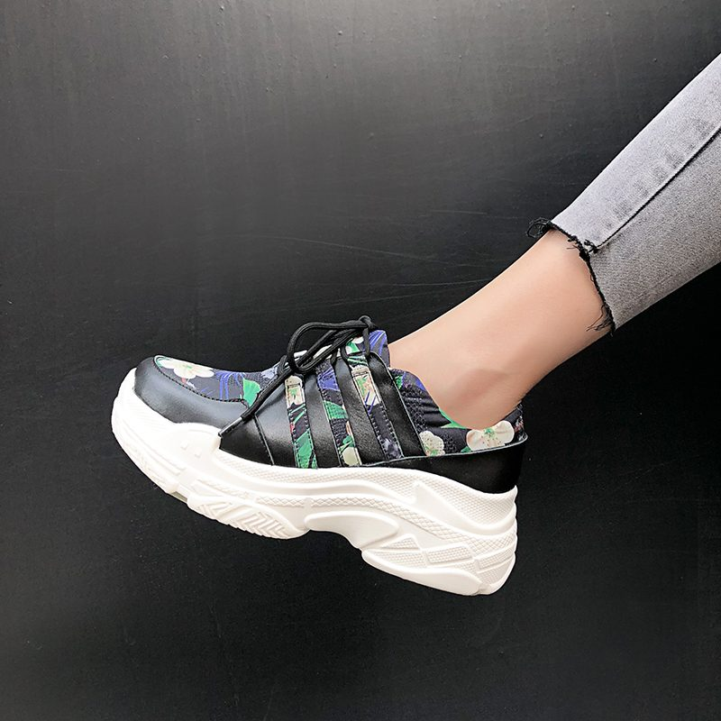 Chiko Bliss Floral Flatform Dad Sneakers