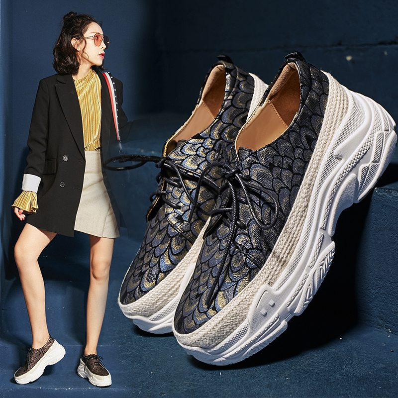 Chiko Blossom Peacock Hue Flatform Dad Sneakers