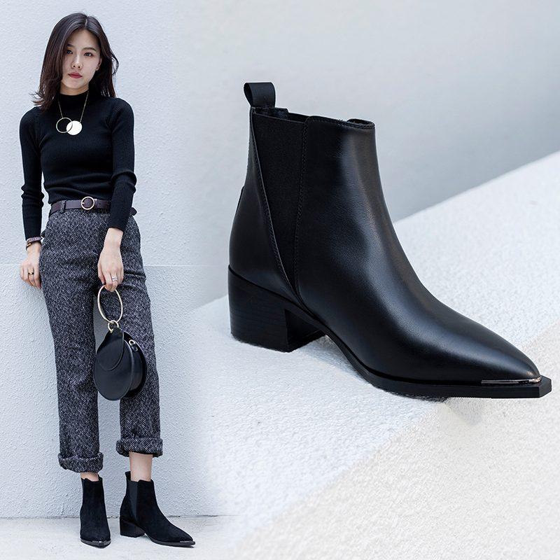 Chiko Bond Block Heel Chelsea Boots